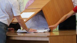 На избирательном участке в Гомеле