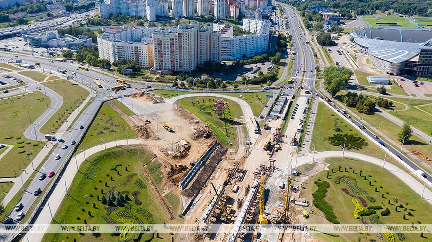 Ремонт путепровода по улице Орловской с высоты птичьего полета