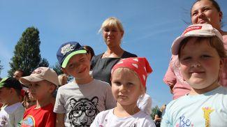 Во время открытия детского сада