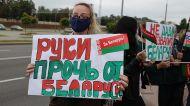Митинг против вмешательства во внутренние дела Беларуси прошел в Гродно у консульства Польши