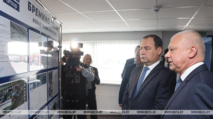 Роман Головченко во время посещения