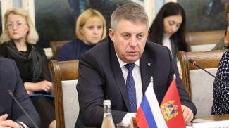 Александр Богомаз во время встречи