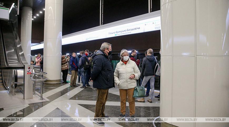 """Станция метро """"Площадь Франтишка Богушевича"""". Фото из архива"""
