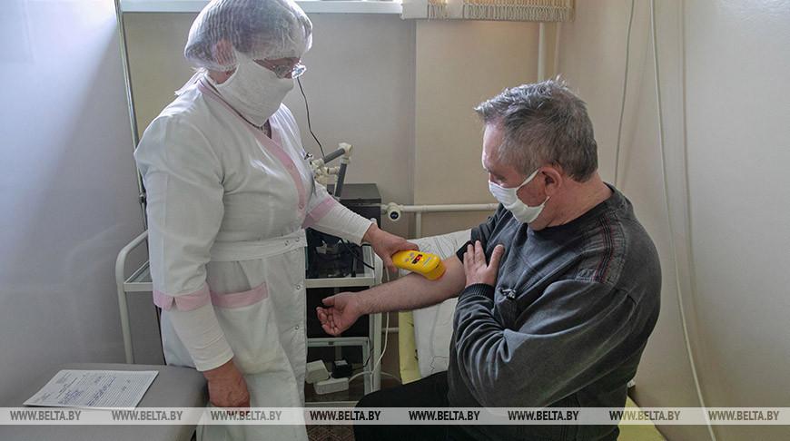 На реабилитации в физиокабинете. Фото из архива