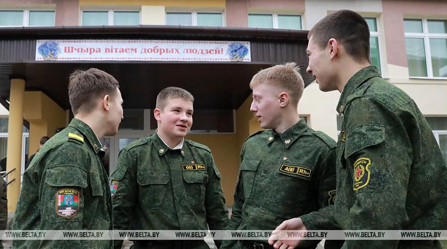 Учащиеся класса военно-патриотической направленности. Фото из архива