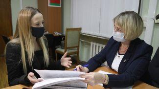 В общественную приемную пришла Юлия Пригодич