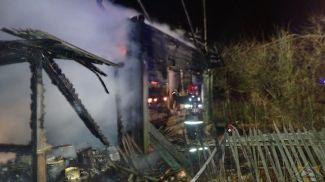 На месте происшествия. Фото Витебского областного управления МЧС