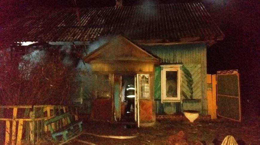 На месте происшествия. Фото Гомельского областного управления МЧС