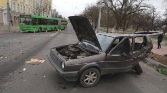 На месте дорожно-транспортного происшествия