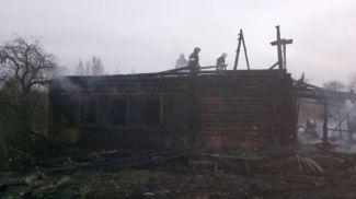На месте происшествия. Фото Могилевского областного управления МЧС