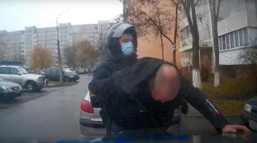 Скриншот из видео Гомельского областного Департамента охраны МВД