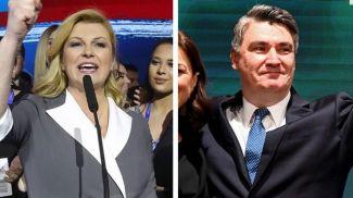 Колинда Грабар-Китарович и Зоран Миланович. Фото AFP
