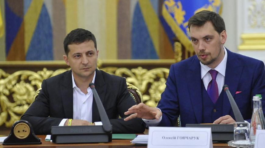 Владимир Зеленский и Алексей Гончарук. Фото 24tv.ua
