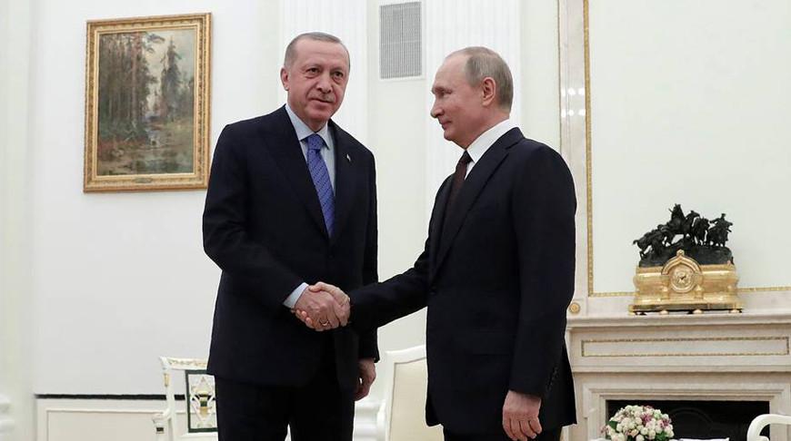 Реджеп Тайип Эрдоган и Владимир Путин. Фото ТАСС