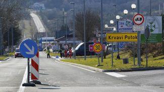 Пропускной пункт на границе Италии и Словении. Фото EPA-EFE
