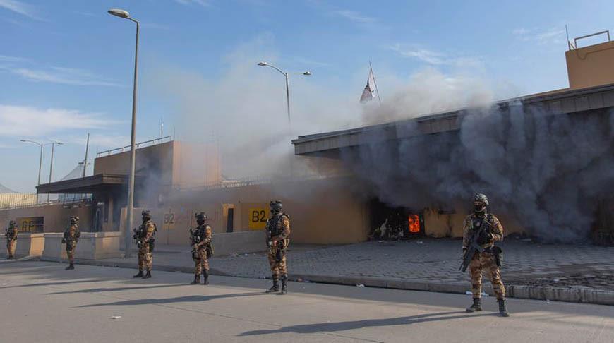 'Зеленая зона' в Багдаде подверглась ракетному обстрелу