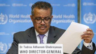 Генеральный директор ВОЗ Тедрос Аданом Гебрейесус. Фото EPA-EFE