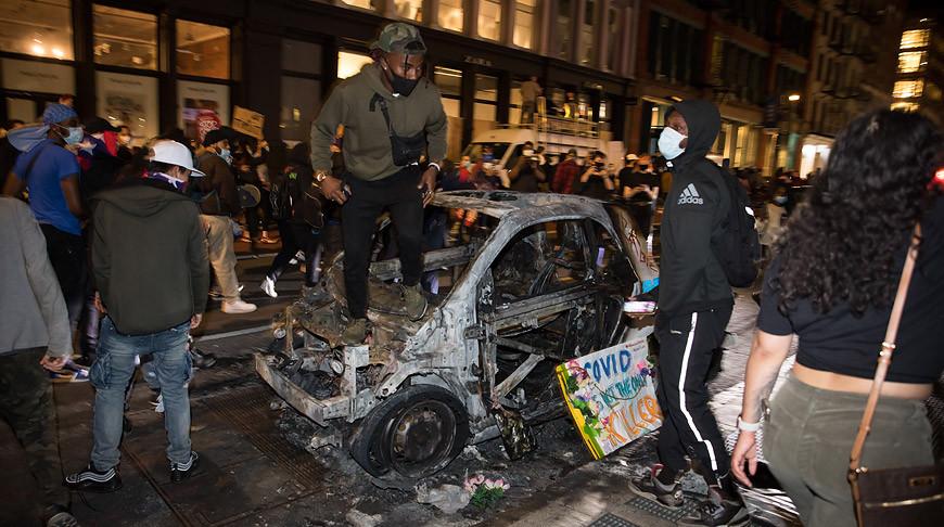 Во время протестов в Нью-Йорке. Фото Синьхуа - БЕЛТА