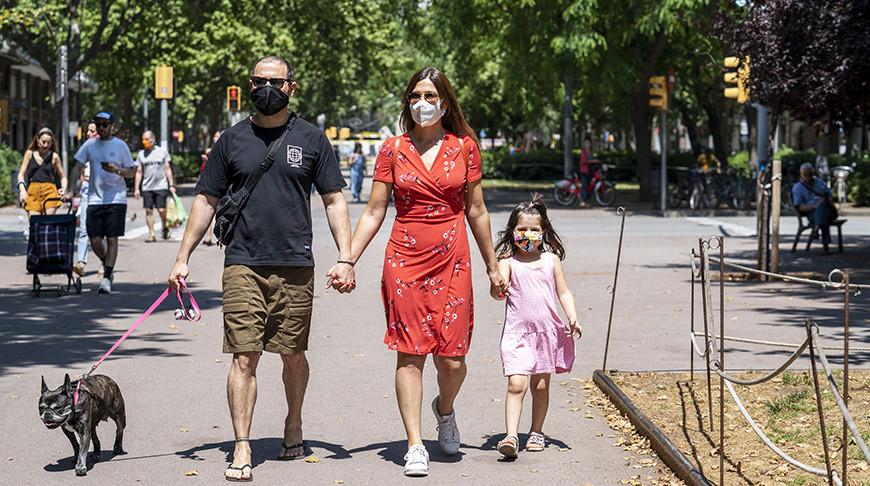 На улицах Барселоны. Фото Синьхуа - БЕЛТА