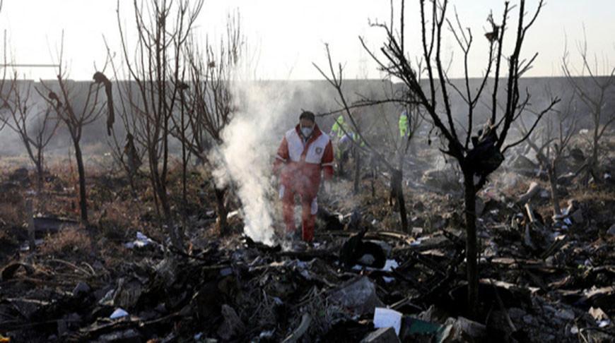 Место крушения украинского Boeing. Фото  AP