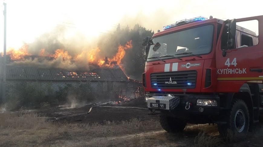 В Харьковской области Украины горит 400 га леса
