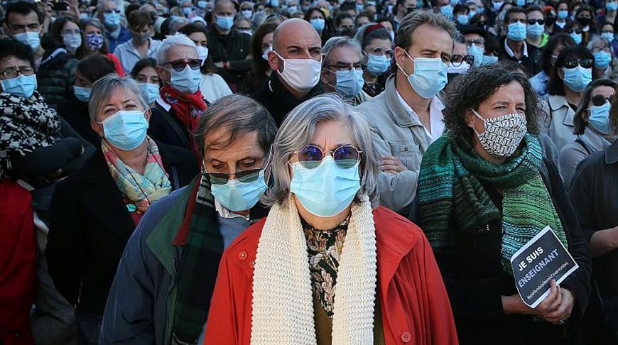Демонстрация в поддержку свободы слова в Байонне. Фото  Associated Press