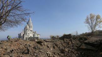 Церковь Казанчецоц в Шуше (Шуши) стала одним из символов противостояния в Нагорном Карабахе. Фото Reuters
