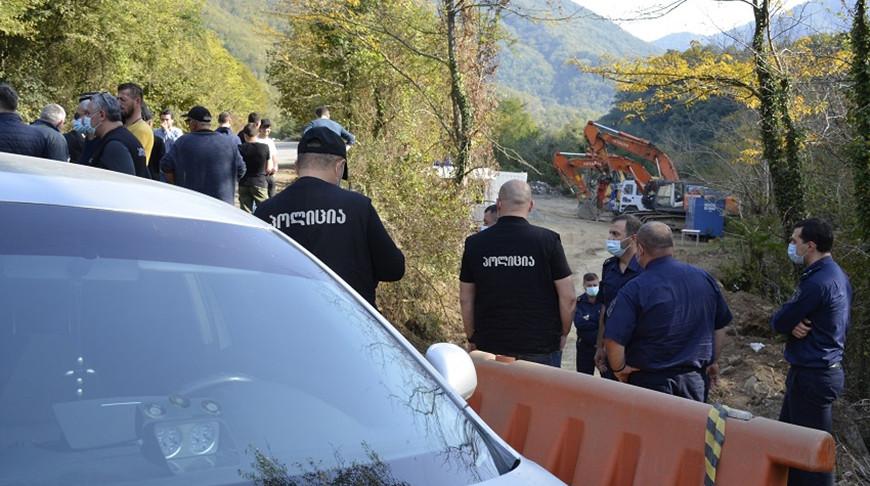 Полиция жестко разогнала протестующих на западе Грузии