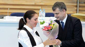 Ольга Власова и Сергей Ковальчук. Фото Министерства спорта и туризма