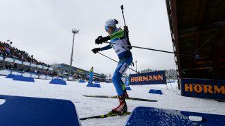 Ирина Кривко на дистанции женской спринтерской гонки в Оберхофе. Фото из архива