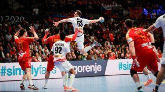 Во время матча Австрия - Северная Македония. Фото EHF