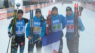 Французские биатлонисты