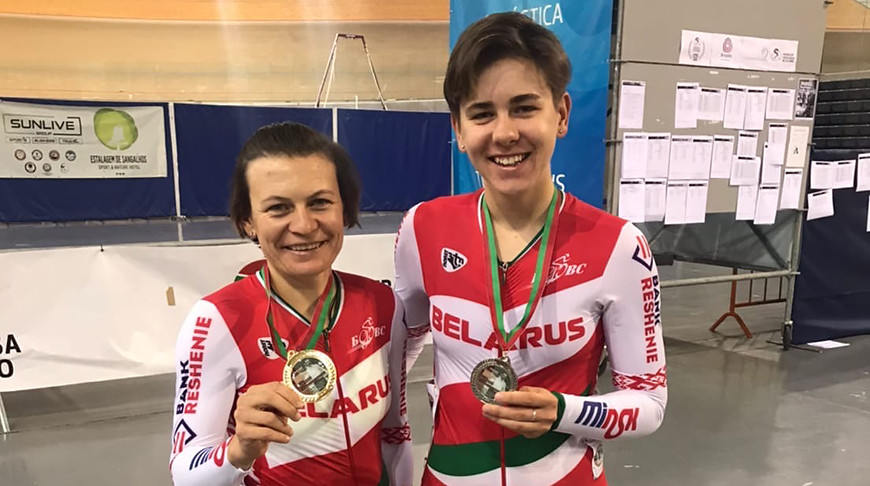 Татьяна Шаракова и Анна Терех. Фото Белорусской федерации велоспорта