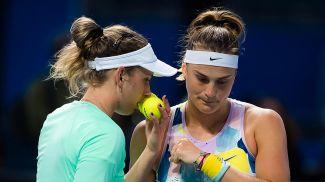 Элизе Мертенс и Арина Соболенко. Фото Jimmie48 tennis photography