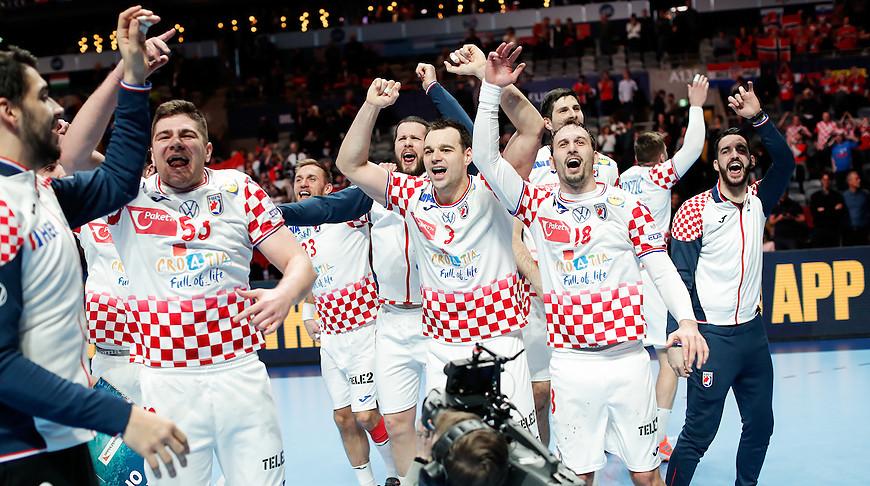 Ликование хорватских гандболистов. Фото EHF