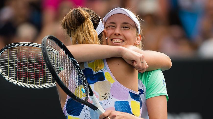 Арина Соболенко и Элизе Мертенс. Фото Jimmie48 tennis photography