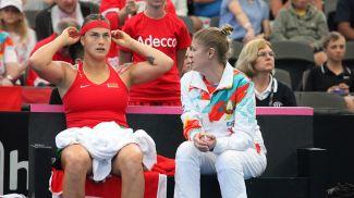 Арина Соболенко и Татьяна Пучек. Фото Белорусской теннисной федерации