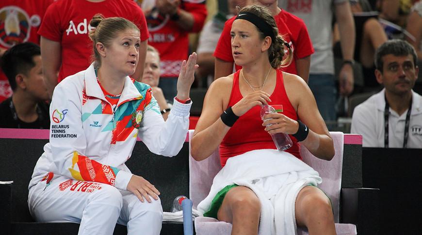 Татьяна Пучек и Виктория Азаренко. Фото Белорусской теннисной федерации