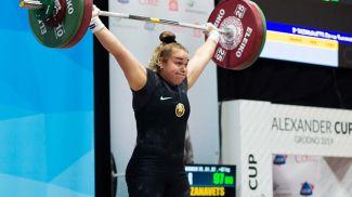Дина Сазановец. Фото пресс-службы национальной команды по тяжелой атлетике