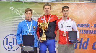 Евгений Болгов (слева). Фото Белорусского союза конькобежцев
