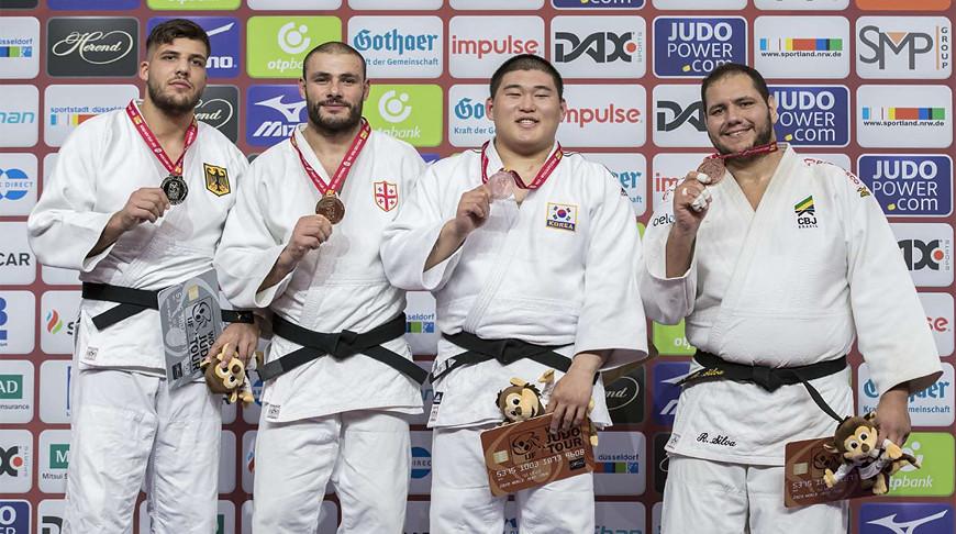 Йоханнес Фрей, Гурам Тушишвили, Ким Мин Чжон и Рафаэл Силва. Фото Международной федерации дзюдо