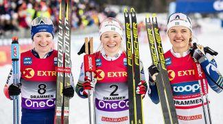 Надин Фендрих, Йонна Сундлинг и Линн Сван. Фото NordicFocus