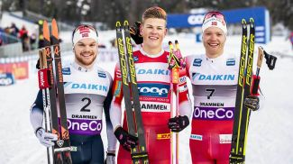 Ховард Сулос Таугбель, Йоханнес Клэбо и Эйрик Браннсдал. Фото NordicFocus