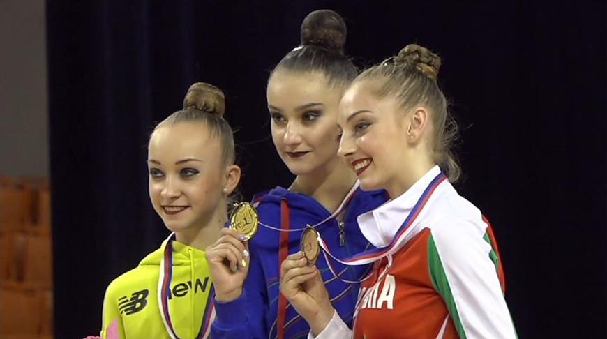 Кристина Пограничная, Алина Горносько и Боряна Калейн. Фото Белорусской ассоциации гимнастики
