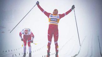 Симен Хегстад Крюгер и Александр Большунов. Фото Nordic Focus