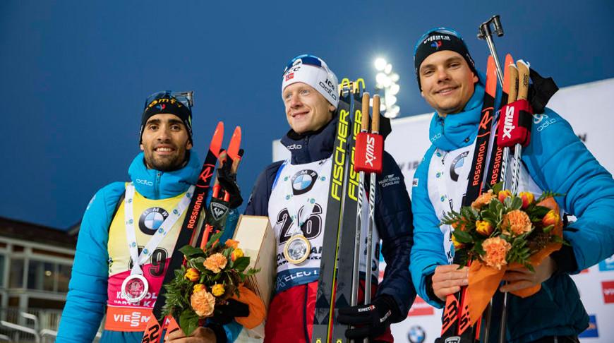 Мартен Фуркад, Йоханнес Бё и Эмильен Жаклен. Фото IBU