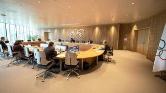 Во время онлайн-заседания. Фото МОК