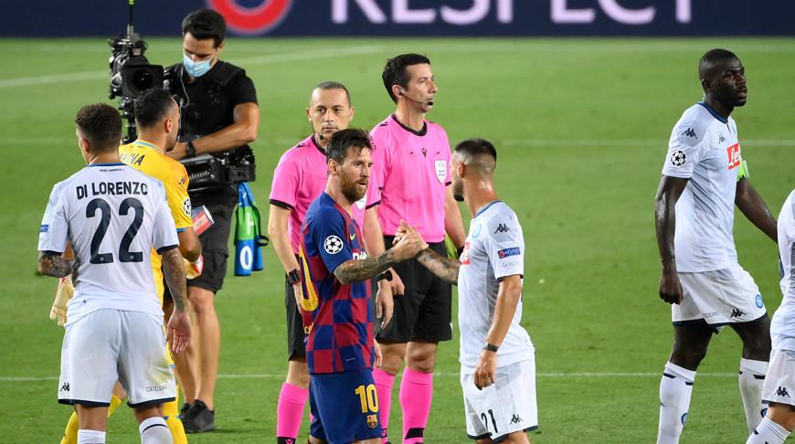 "После матча ""Барселона"" - ""Наполи"". Фото УЕФА"