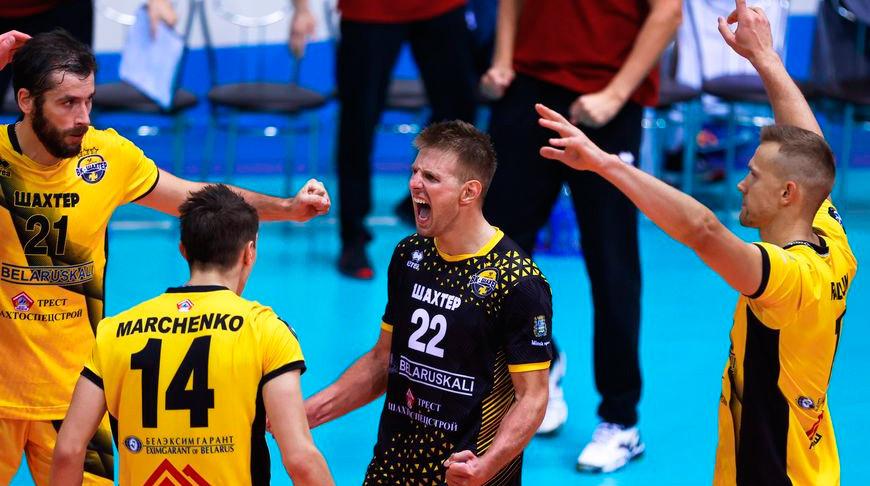 Солигорский 'Шахтер' с победы стартовал в мужском чемпионате Беларуси по волейболу