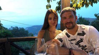 Александр Овечкин с супругой. Фото из Instagram